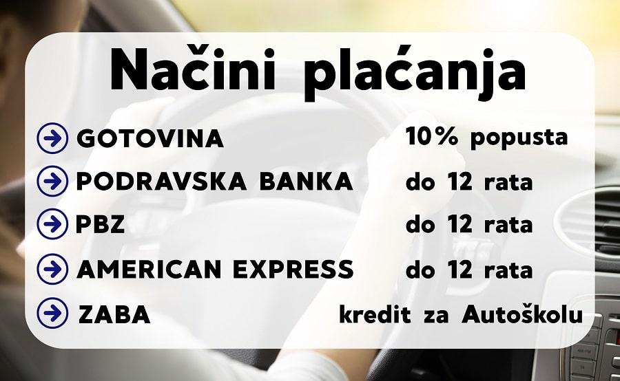 Način plaćanja Auto klub Koprivnica
